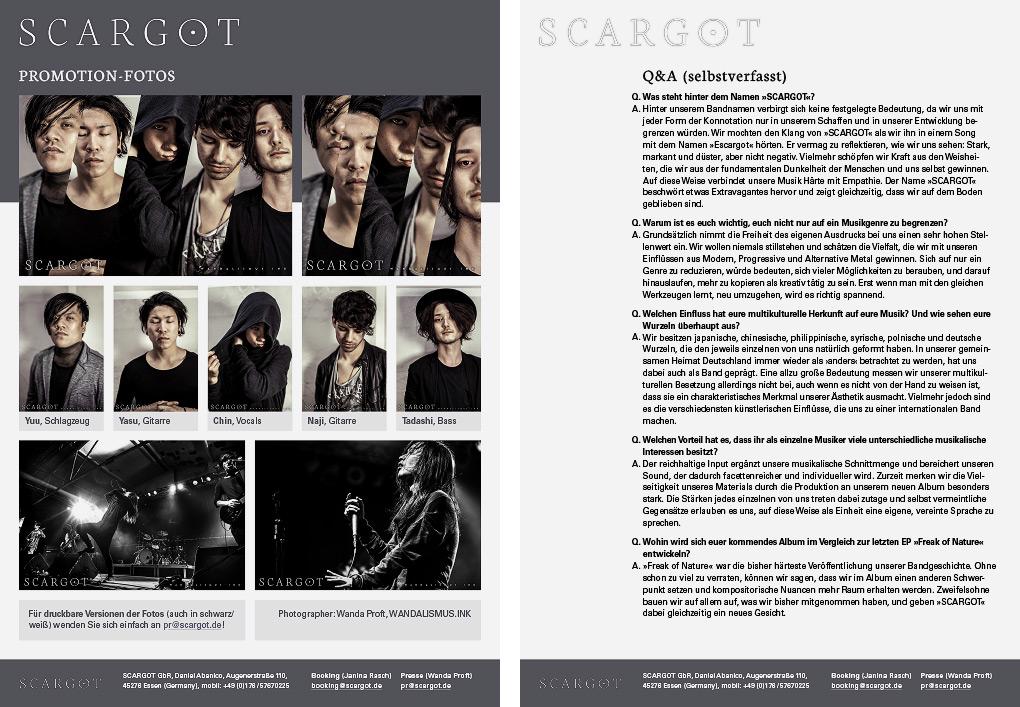 SCARGOT EPK public relations, 2016 © Wanda Proft, WANDALISMUS.INK