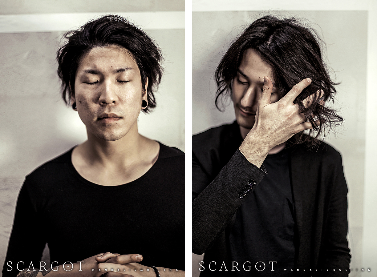 SCARGOT 2016 Portrait Guitar Yasu and Bass Tadashi, photo by Wanda Proft